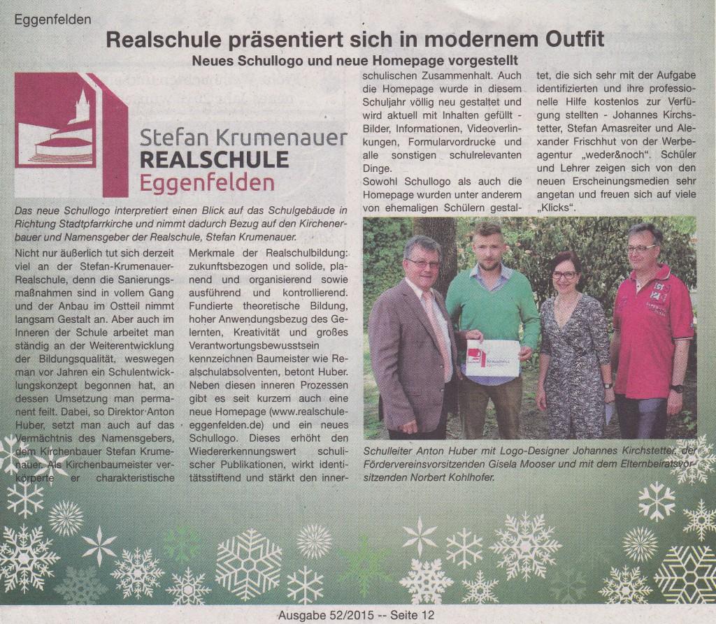 2015-12-16 - Zeitungsartikel über neue Homepage+Logo (VIB)