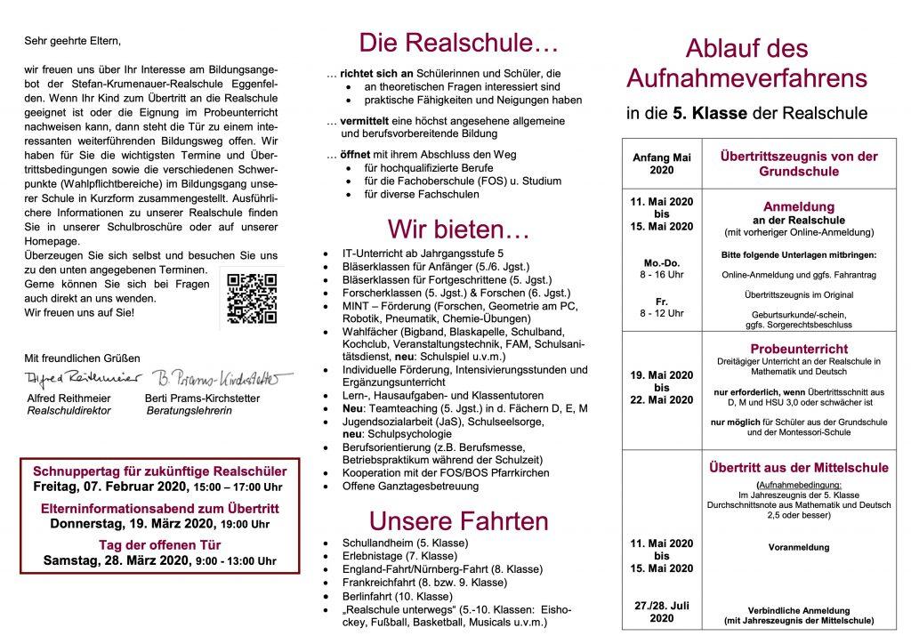 Flyer für Übertrittsabend 2019_20_mit OGTS_und_Umweltlogo 2