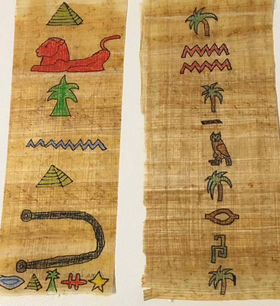 Ägyptische Lesezeichen von Alina Traise, 6a und Anna-Maria Rieger, 6c